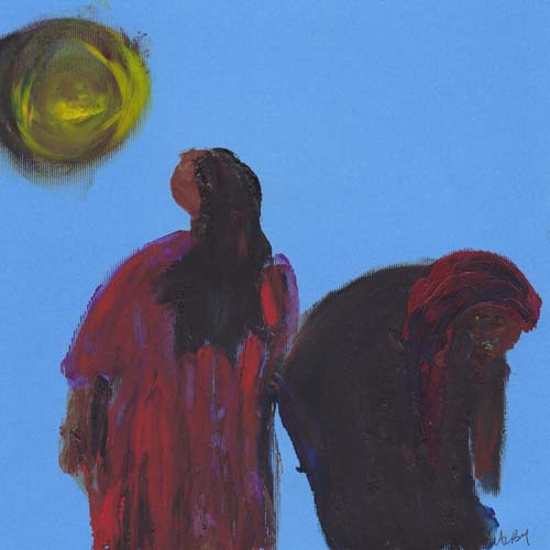 full moon acrylic 2008 7 and three quarters by 7 and three quarters