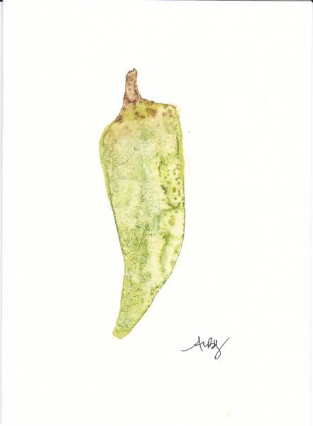 yellow pepper summer veggie card series 2011